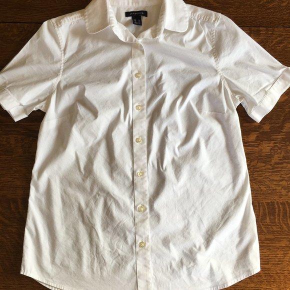 Lands' End Ladies Short Sleeve Button up Shirt 4